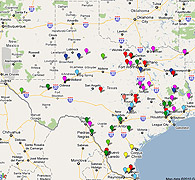 Texas Private Prisons Map