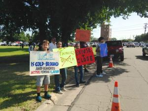protest at Jack Harwell